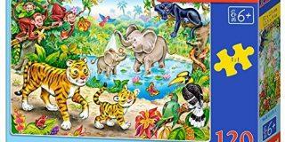 Castorland B-13173-1 - Puzzle Tiere des Dschungels 120 Teile