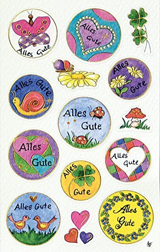 Avery Zweckform 57026 Deko Sticker Schriftzug Alles Gute 14 Aufkleber
