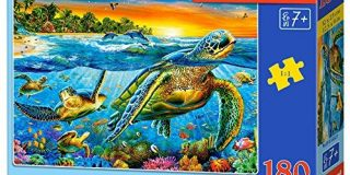 "Castorland B-018321 ""Underwater Turtles"" Puzzle, 180 Teile"