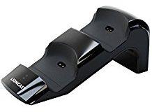 Lioncast Doppel-Ladestation fur Playstation 4 Controller inkl. Adapter und Netzteil (Charging Station, PS4, schwarz)
