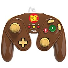 Controller FIGHT Pad PDP fur Wii U - Modell Donkey Kong