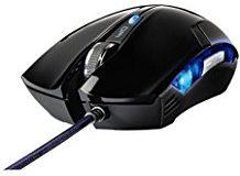 uRage Gaming Maus (dpi von 600 - 2400 regelbar, 5 programmierbare Tasten, Blaue LEDs) schwarz
