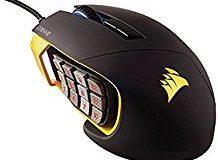 Corsair CH-9000091-EU (Multi-Colour RGB Beleuchtung Performance 12000 DPI) Scimitar Optische Gaming Maus schwarz-gelb