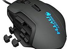 ROCCAT Nyth Modular MMO Gaming Laser-Maus (12000dpi, austauschbare Daumentasten und Seitenteile) grau-schwarz