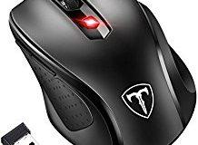 Schnurlos Maus, TOPELEK Optical Business Mouse Optische Mause Mini Wireless Mouse 2,4G mit Nano-Empfanger, 6 Tasten, 15 Monate B