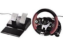 Hama Racing Wheel Thunder V5 Lenkrad fur PlayStation 3 und PC (Dual Vibration, mit Gas und Bremspedal, USB-Anschluss) PS3 Lenkra