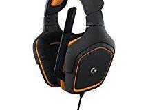 Logitech G231 Gaming-Kopfhorer Prodigy Stereo (mit Mikrofon fur PC, Xbox One und PS4) schwarz-orange
