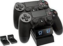 Venom Twin Docking Station, ladt zwei Dualshock 4 Controller gleichzeitig ohne Kabel, mit LED Anzeige - Playstation 4