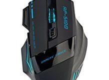 R4mpage RP-5100 optische 6 farbige LED-Gamingmaus, 7 Tasten mit ultragenauem Scrollrad fur hochste Prazision, schnelleres Arbeit