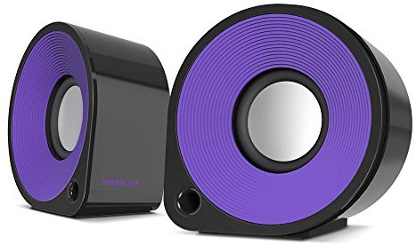 Speedlink Aktive Stereo-Lautsprecher - ELLIPZ Stereo Speakers USB (6W RMS Ausgangsleistung - Stufenloser Lautstarkeregler - Kabe