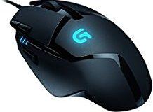 Logitech G402 Gaming-Maus Hyperion Fury (mit 8 programmierbaren Tasten) schwarz