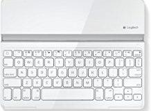 Logitech Ultrathin Magnetic Clip-On Keyboard Cover fur iPad 4- iPad 3- iPad 2 (kabellose Bluetooth-Tastatur und Halterung, deuts