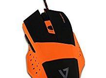 V7.GG GM110 Pro Gaming Maus (4000dpi, Multicolor LED, 6 Programmierbare Tasten) Orange