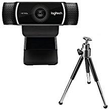 Logitech C922 Pro Stream Webcam (1080p-30FPS oder 720p-60FPS, mit Mikrofon und Stativ, Arbeitet mit Xbox One) schwarz