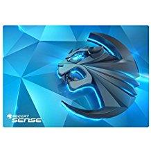 ROCCAT Sense Kinetic High Precision Gaming Mousepad (Mikrokristallbeschichtung, Grosse: 400 x 280 x 2 mm), blau-schwarz
