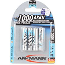 ANSMANN wiederaufladbar Akku Batterie Micro AAA Typ 1000mAh NiMH hochkapazitiv Hohe Kapazitat ohne Memory-Effekt Profi Digital K