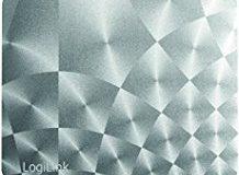 "LogiLink ID0145 Golden Laser Mauspad, ""Aluminium"" Design mit Mikro-Strukturierte Oberflache silber"
