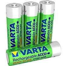 Varta Rechargeable Accu Ready To Use vorgeladener AA Mignon NiMh Akku (4er Pack, 2100 mAh, wiederaufladbar ohne Memory-Effekt -