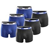 PUMA Herren Boxershort Basic Limited Black Edition 6er Pack: Amazon.de: Sport & Freizeit