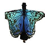 Shoppen Sie Overdose Frauen 197*125CM Weiche Gewebe Schmetterlings Flügel Schal feenhafte Damen Nymphe Pixie Halloween Cosplay