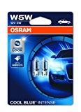 OSRAM Cool Blue Intense W5W, Halogen-Signallampe, Nummernschildbeleuchtung, Xenon-Look, 2825HCBI-02B, Doppelblister (2 Lampen):