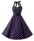 Dresstells Neckholder Rockabilly 50er Vintage Retro Kleid Petticoat Faltenrock: Amazon.de: Bekleidung