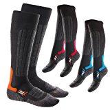 3er Pack Original CFLEX HIGH PERFORMANCE Ski- und Snowboard Socken - Für Damen und Herren. - Im 3-Farb-Pack - Grö&szli