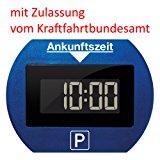 Needit PARK LITE 1411 Vollautomatische Parkscheibe, CR 2450 Knopfzelle inkl., blau: Amazon.de: Auto