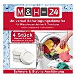 M&H-24 Schwingungsd&auml,mpfer - Vibrationsd&auml,mpfer - Antivibrationsmatte f&uuml,r Waschmaschine & Trockner, Waschmaschinenz