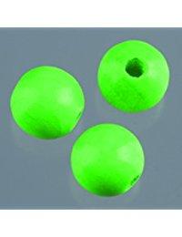 EFCO 20 12 mm Holzperlen mit 30 mm Durchmesser Neon Loch, grun