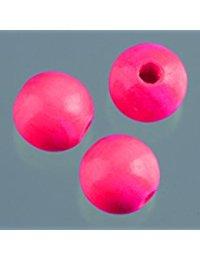 EFCO 45-tlg. 8 mm Holz Perlen mit 23 mm Durchmesser Neon Loch, Bright Pink