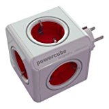 allocacoc PowerCube Original Rot, Reiseadapter & 5x: Amazon.de: Elektronik