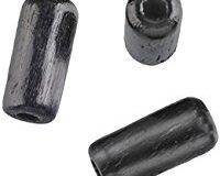 EFCO 50tlg. 5 x 10 mm Holzperlen mit 23 mm Durchmesser Zylinder Loch, schwarz