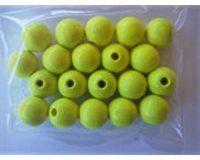 EFCO 20 12 mm Holzperlen mit 30 mm Durchmesser Neon Loch, gelb