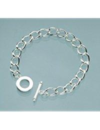 EFCO Oval Armband, Metall, silber, 18 cm