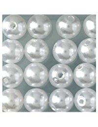 EFCO Wachsperlen, Kunststoff, weiss, s 4 mm, 100 Stuck