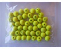 EFCO 45-tlg. 8 mm Holz Perlen mit 23 mm Durchmesser Neon Loch, gelb