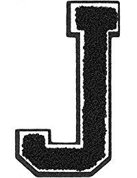 Urban Classics Aufnahbuchstaben UC Letter J, Schwarz, One size, UC008-00340-0050