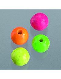 EFCO 45-tlg. 8 mm Holz Perlen mit 23 mm Durchmesser Neon Loch, verschiedene Farben