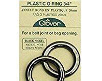 Clover 6211 O-Ringe Kunststoff 20 mm, nickel schwarz