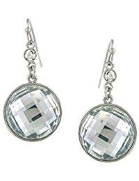 1928 Jewelry Silber, Kristall, rund, mit Glaskristall