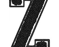 Urban Classics Aufnahbuchstaben UC Letter Z, Schwarz, One size, UC008-00399-0050