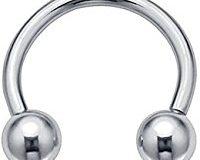 Kultpiercing Unisex-Piercing Ring Basic Hufeisen Edelstahl - BAD00005
