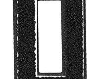 Urban Classics Aufnahbuchstaben UC Letter Q, Schwarz, One size, UC008-00362-0050