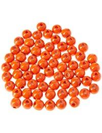 EFCO 65 6 mm Holzperlen mit 20 mm Durchmesser Neon Loch, orange