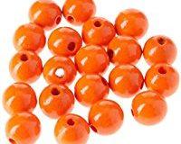 EFCO 20 12 mm Holzperlen mit 30 mm Durchmesser Neon Loch, orange