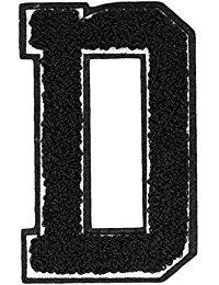 Urban Classics Aufnahbuchstaben UC Letter D, Schwarz, One size, UC008-00318-0050