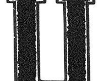 Urban Classics Aufnahbuchstaben UC Letter U, Schwarz, One size, UC008-00377-0050