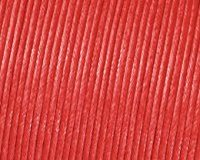 Kumihimo 1 mm x 6 m Gewachste Kordel, Baumwolle, Rot