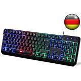 KLIM Chroma Tastatur Gamer QWERTZ DEUTSCHE mit USB: Amazon.de: Computer & Zubehör